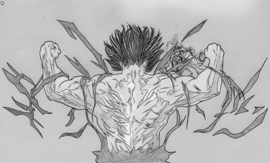 Go to the Second part of Akuma VS Yujiro Hanma